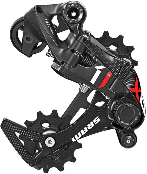 SRAM X01 10-speed DH X-HORIZON Rear Derailleur Color: Red