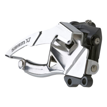 SRAM X7 2x10 Front Derailleur<br>(Low Direct-mount, Dual-pull)