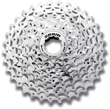 SRAM PG-980 9-Speed Cassette Color: Silver