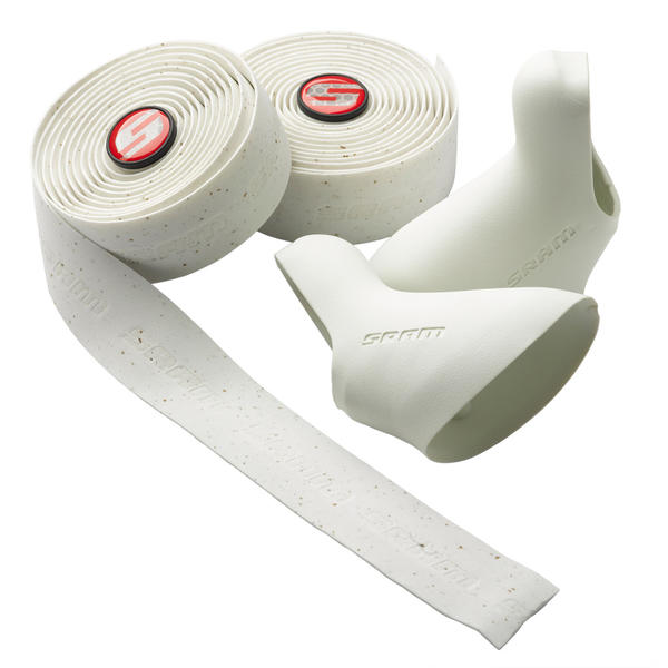 SRAM SuperCork Bar Tape w/DoubleTap Lever Hoods Color: White