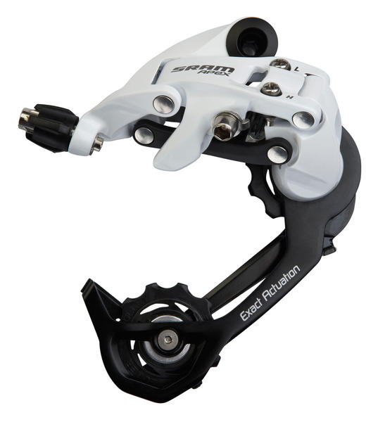 SRAM Apex Rear Derailleur (Medium-cage) Color: White