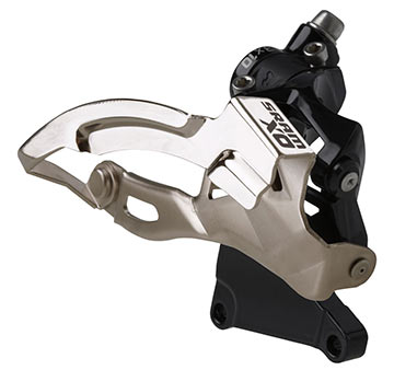 SRAM X0 3x10 Front Derailleur<br>(High Direct-Mount, Top-pull)