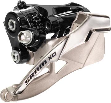 SRAM X0 3x10 Front Derailleur (High-clamp, Dual-pull)