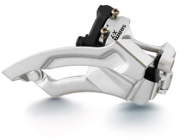 SRAM X-7 Front Derailleur (Low-clamp, Dual-pull)