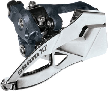 SRAM X7 Front Derailleur (High-clamp, Dual-pull) 3 x 10-speed