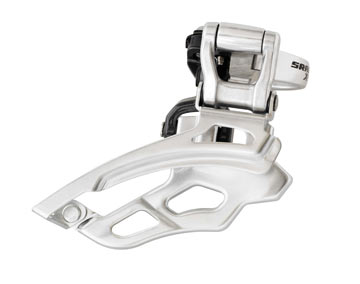 SRAM X9 9-speed Front Derailleur<br>(High-clamp, Bottom-pull)