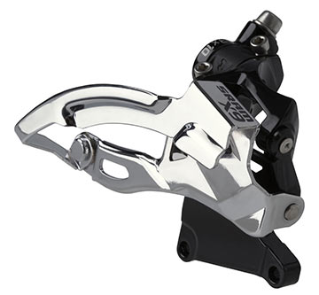 SRAM X9 2x10 Front Derailleur (High Direct-mount, Dual-pull)