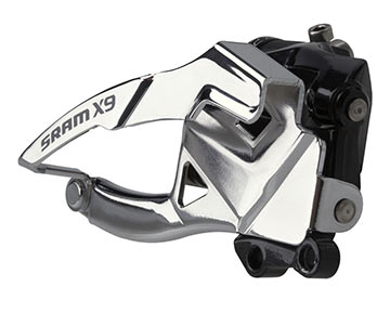 SRAM X9 2x10 Front Derailleur (Low Direct-mount, Bottom-pull)