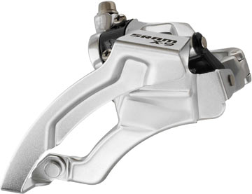 SRAM X9 9-speed Front Derailleur (Low-clamp, Top-pull)