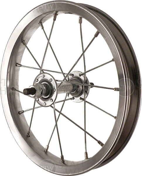 Sta-Tru 12-inch Front Wheel Color: Silver