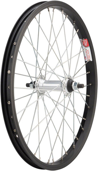 Sta-Tru 18-inch Front Wheel Color: Black