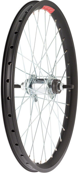 Sta-Tru 20-inch Double Wall Rear Wheel Axle | Cassette Compatibility | Color | Size: 110mm x 3/8-inch | Coaster Brake | Black | 20-inch