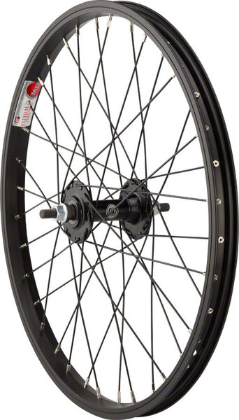 Sta-Tru 20-inch Front Wheel Color: Black