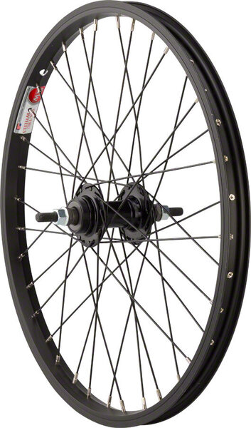 Sta-Tru 20-inch Rear Wheel Axle | Cassette Compatibility | Color | Size: 110mm x 3/8-inch | Freewheel | Black | 20 x 1.75-inch