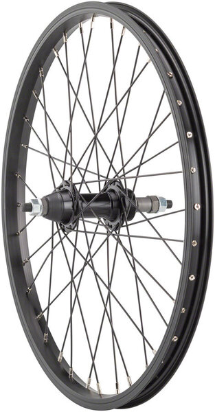 Sta-Tru 20-inch Rear Wheel Axle | Cassette Compatibility | Color | Size: 135mm x 3/8-inch | Freewheel | Black | 20-inch