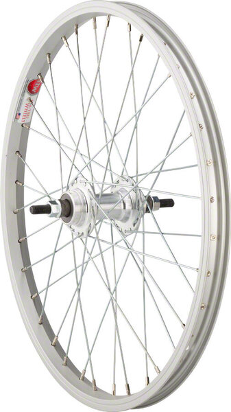 Sta-Tru 20-inch Rear Wheel Axle | Cassette Compatibility | Color | Size: 110mm x 3/8-inch | Freewheel | Silver | 20 x 1.75-inch