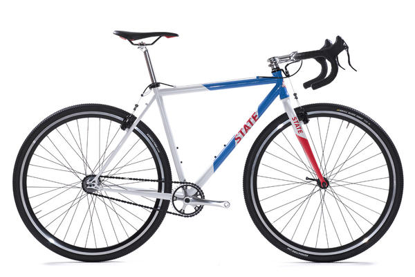 State Bicycle Co. Warhawk Color: Red, White, and Blue