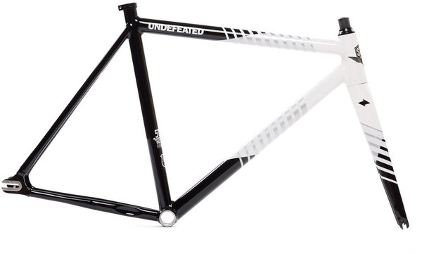 State Bicycle Co. Undefeated II Frame & Fork Set - Black & White Edition