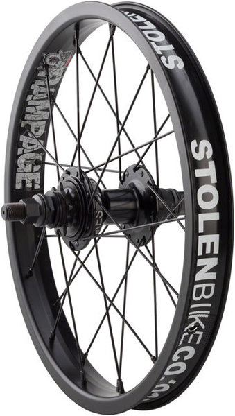 Stolen Rampage 16-inch Cassette Rear Wheel Color: Black