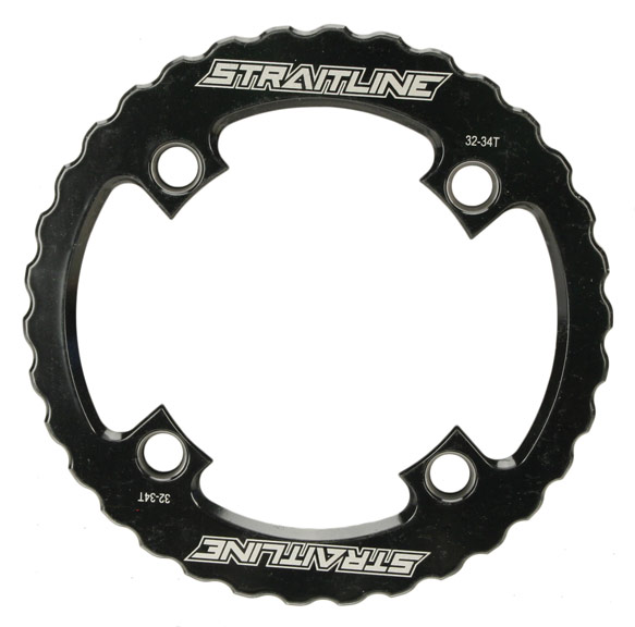 Straitline Serrated Bash Ring Color: Black