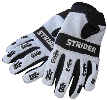 Strider Adventure Riding Gloves Color | Size: Black/White | Large