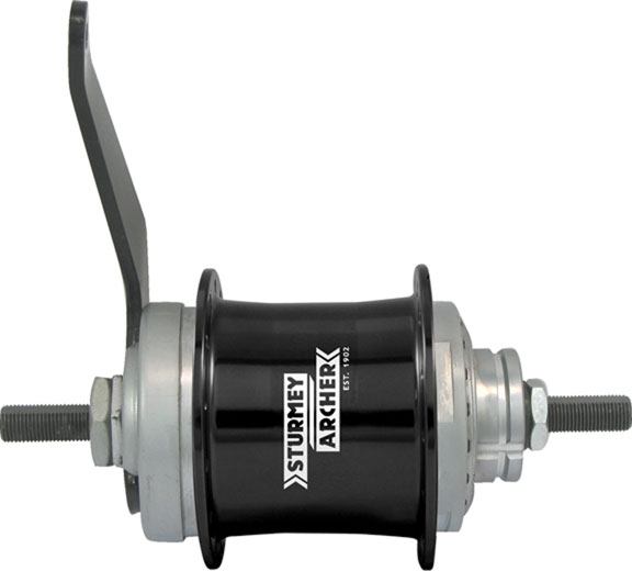 Sturmey-Archer 2-Speed Coaster Brake Hub Color: Black