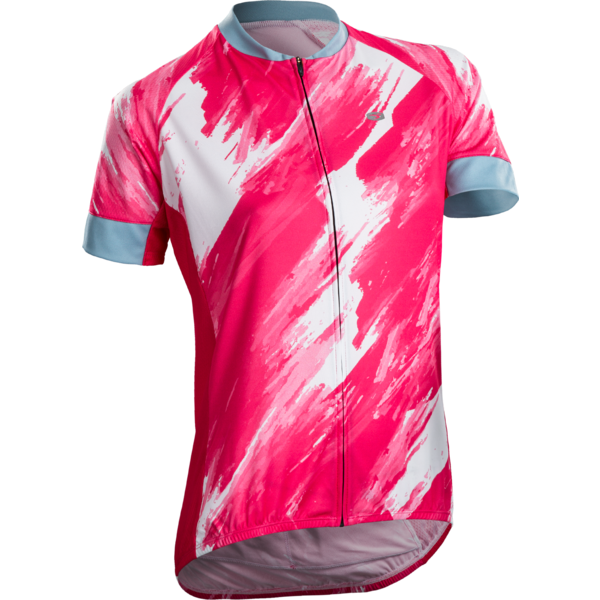Sugoi Women's Evolution Zap Jersey Color: Azalea/Brush Print