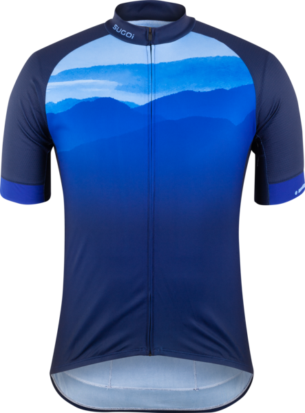 Sugoi Evolution Zap Jersey Color: Azure Mountain