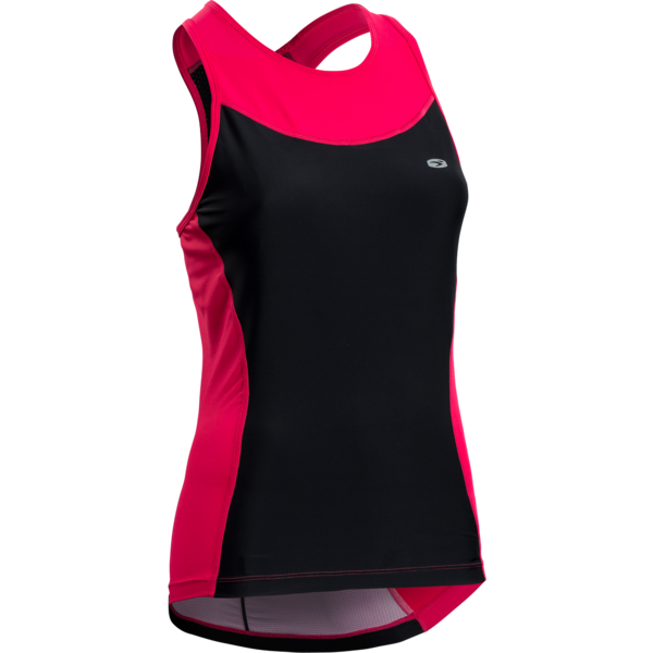 Sugoi Women's RPM Tri Racerback Tank Color: Azalea/Mountain Print