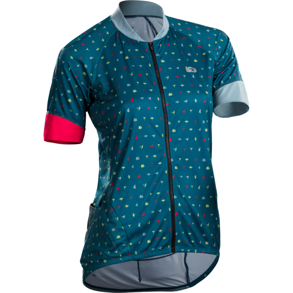 Sugoi Women's RS Century Zap Jersey Color: Ocean Depth/Origami Print