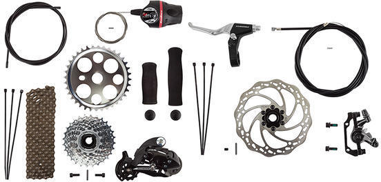 Sun Bicycles Disc Brake Conversion Kit, 7-Speed Model: 7-Speed