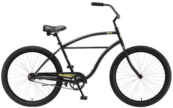 Sun Bicycles Revolutions Coaster Brake 26 Step-Over Color: Satin Black