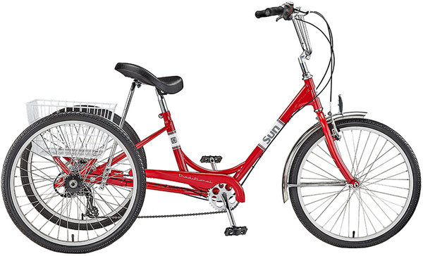 Sun Bicycles Traditional 24 7-Speed Color: Red Metallic