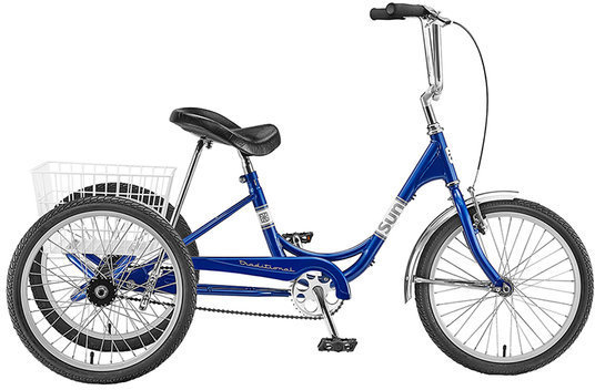 Sun Bicycles Traditional Trike 20 Color: Metallic Blue