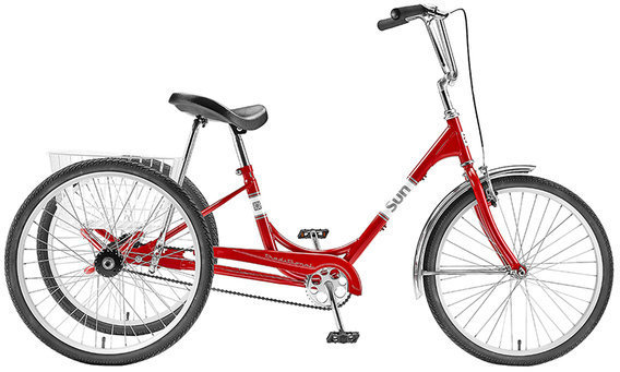 Sun Bicycles Traditional Trike 24 Color: Red Metallic