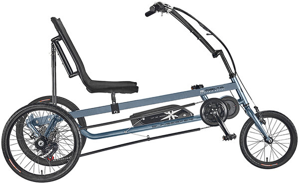 Sun Seeker E-Delta Electric Assist Trike Color: Dark Grey