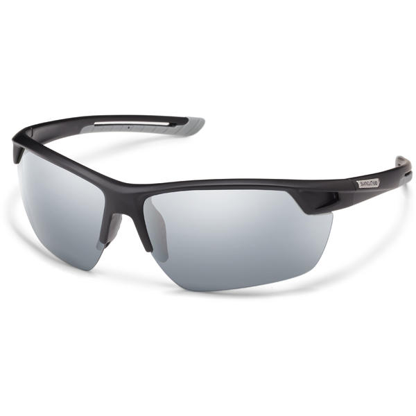 Suncloud Optics Contender Color | Lens: Matte Black | Silver Mirror Polarized Polycarbonate
