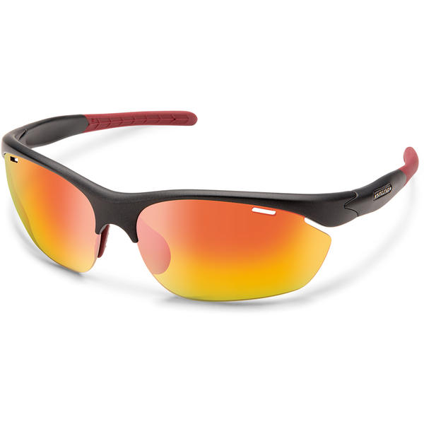 Suncloud Optics Portal Color | Lens: Matte Graphite | Red Mirror Polycarbonate|Contrast Rose