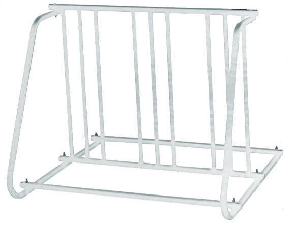 Sunlite 6-Bike Parking Rack Color: Silver