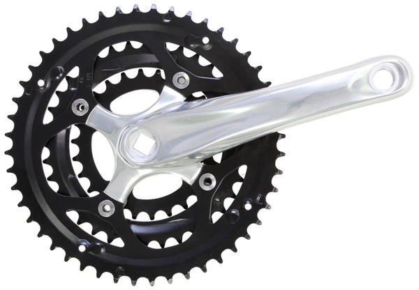 Sunlite Alloy Triple Crankset Color: Silver/Black