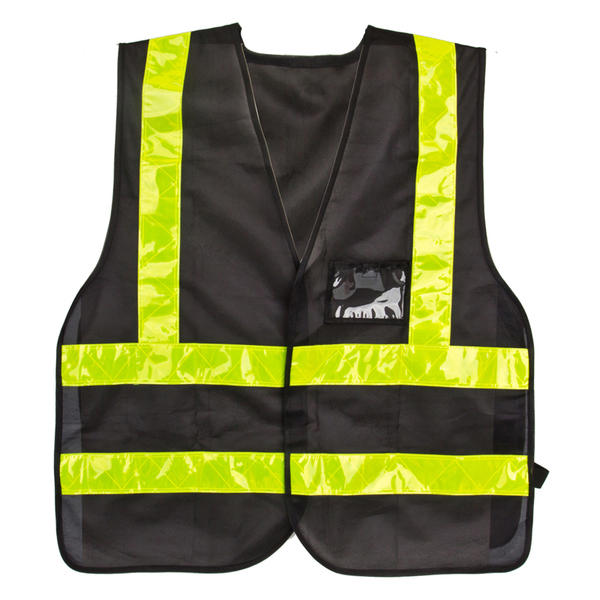Sunlite Delivery Vest Color: Black/Reflective Yellow