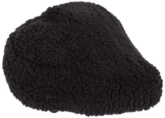 Sunlite Fur Seat Cover Color | Model | Size: Black | Cruiser | 10.5 x 10.25-inch