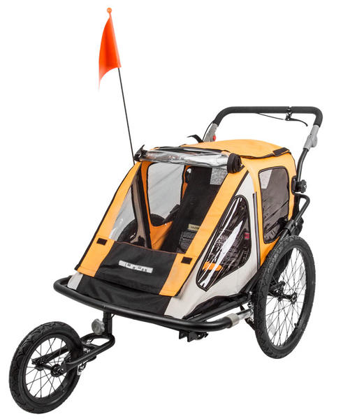 Sunlite Convertible Trailer Tot Color: Black/Yellow/Grey