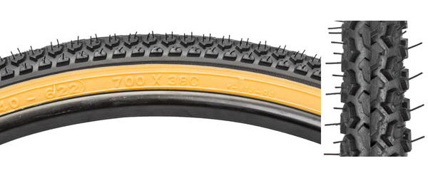 Sunlite Hybrid Knobby Tire Color: Black/Gumwall