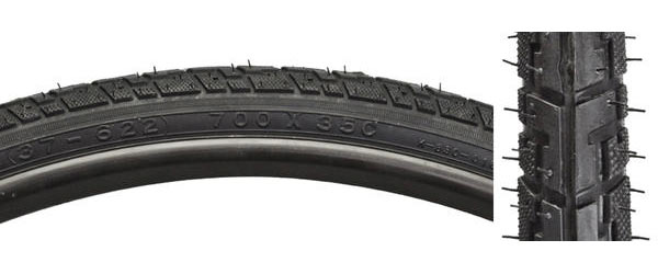 Sunlite Hybrid Nimbus Plus Tire (700c) Color | Size: Black | 700 x 35c