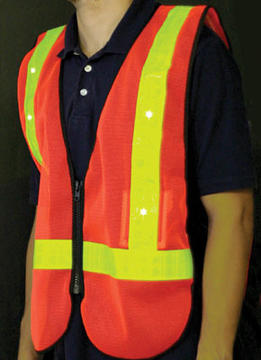 Sunlite LED Safety Vest Color: Orange/Reflective Yellow