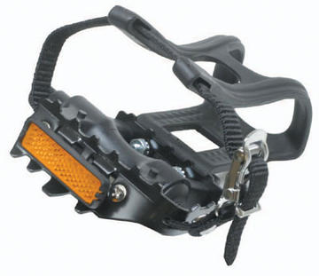 Sunlite Low Profile ATB Pedals with Toe Clips Color: Black