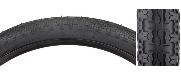 Sunlite MTB Raised Center Tire (24-inch) Color: Black/Black