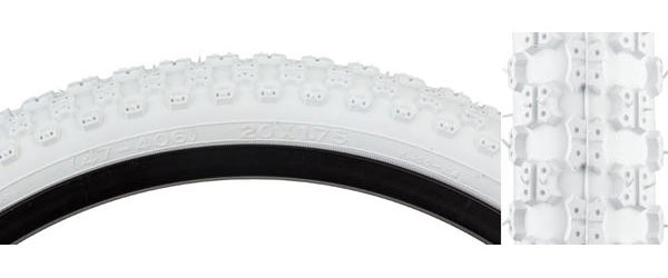 Sunlite MX3 Tire (20-inch) Color | Size: White/White | 20 x 1.75