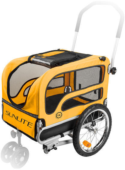 Sunlite Pet Trailer Color: Silver/Yellow/Black